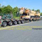 Schwertransport Liebherr LTM 1160 Gewicht 69,9 to