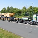 Liebbherr LTM 1160 Transport Italien nach Friedberg Lagerplatz
